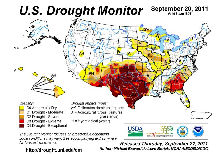 Drought Monitor September 2011