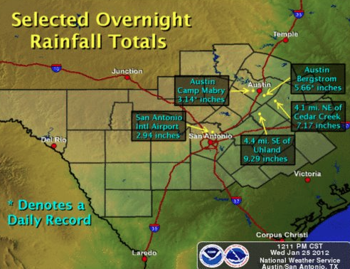 Will steady rains in Central Texas convert to banner wildflowers in 2012?